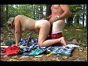 Wifey suction dildo in picnic basket for when super-naughty outdoors in the sun